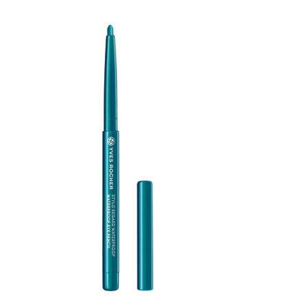 Yves Rocher COULEURS NATURE wasserfester Augenkonturen-Stift Turquoise, Eyeliner Drehstift, waterproof in Petrol, 1 x Stift 0,3 g