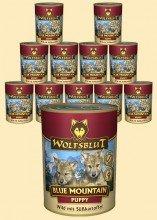 Wolfsblut Blue Mountain PUPPY Nassfutter für Welpen mit Wildfleisch 6 x 395 - Wolfsblut Junior Nassfutter