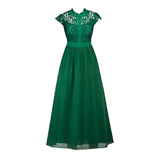 Luckycat Frauen Vintage Flare Elegante reizvolle Spitze Vintage Wedding Cocktail Swing Kleider Abendkleider Schwingenkleid Partykleider Blusenkleid