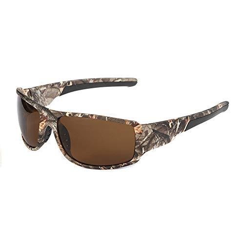 Unisex Der Farbfilm polarisierte Brille Sportbrille für Männer und Frauen in Radfahren Skifahren Angeln Golf Tarnung Sport Radfahren Brille Angeln polarisierte Sonnenbrille ( Farbe : Kaffee )