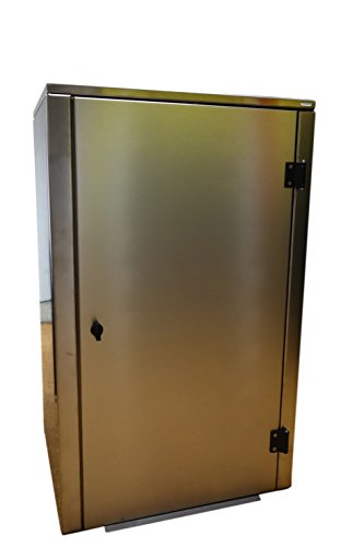 Mülltonnenbox Edelstahl, Modell Eleganza G, für 120 Liter Tonnen - 2