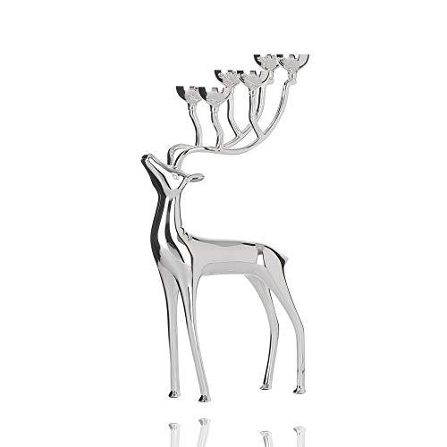 Parlament Metall luxuriöse Hirsch Kerzenhalter Desktop Dekorationen Handwerk. Retro kronleuchter schmuck möbel kerzen display halter geschenke für Weihnachten kerzenschein abendessen (Farbe das geld)