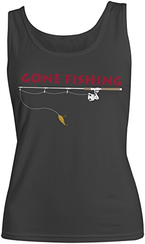 Gone Fishing Amusant Fishing Femme Tank Top Debardeur Noir