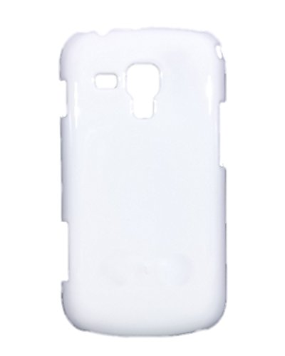 iCandy™ Colorfull Shiney Hard Back Cover For Samsung Galaxy S Duos S7562 / S2 Duos S7582 - WHITE  available at amazon for Rs.109