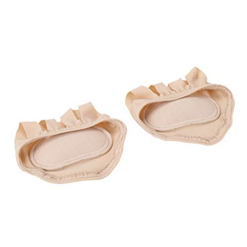 Healifty Metatarsale Pads Fuß Toe Separators Fußpolster Vorfuß Pad für Schmerzlinderung 1 Paar (Hautfarbe) -