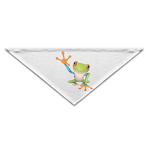 JMAKI Hundehalsbänder Hunde Halstuch,Australian Green Tree Frog Clip Art Triangle Pet Scarf Dog Bandana Pet Collars,Soft Head Scarfs Accessories Pet bib Pet Supplies