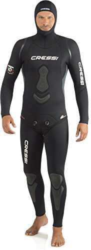 Cressi Homme Apnea Complete 7 mm Freediving/Spearfishing Wetsuits Premium Soft Neoprene, Noir, L/4