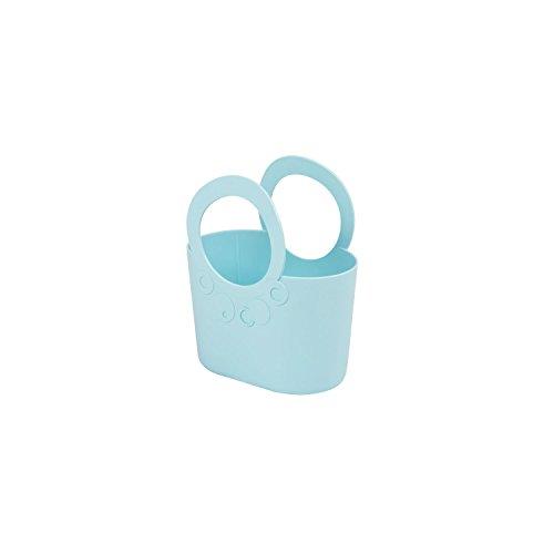 XS kleine moderne Handtasche 1,2 L Pfefferminz grün Griffe Lily Kosmetiktasche Basket