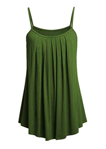OVERDOSE Sommer Einfarbig Frauen Bluse Shirt Camis Pullis Oberteile Lose Leibchen Damen Einfarbig Chiffon Tank Tops Plus Größe S-6XL(E,5XL)