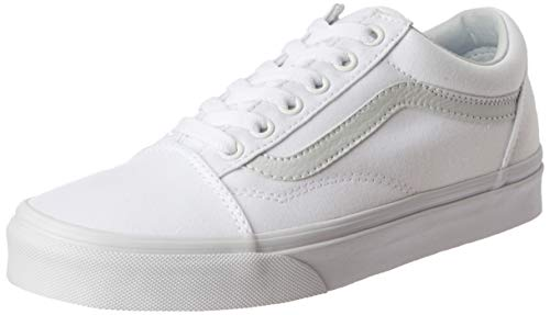 6614a81f04 Vans True White Old Skool Canvas Sneakers-UK 3.5