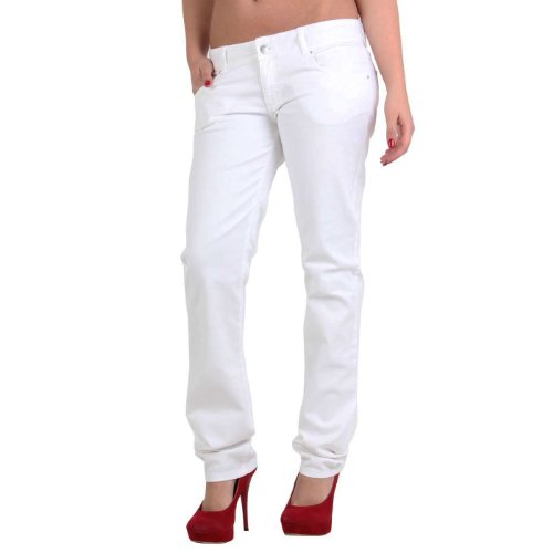 MET Jeans donna Bull Stretch Body White E67 bianco W32