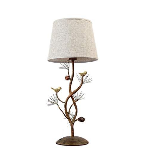Tischlampe Tischlampe Nordic Beleuchtung Nachtschreibtischlampe Modern graue Tischlampe mit einem gelben geometrischen Muster-Zylinder-Licht Schatten (Color : A) -