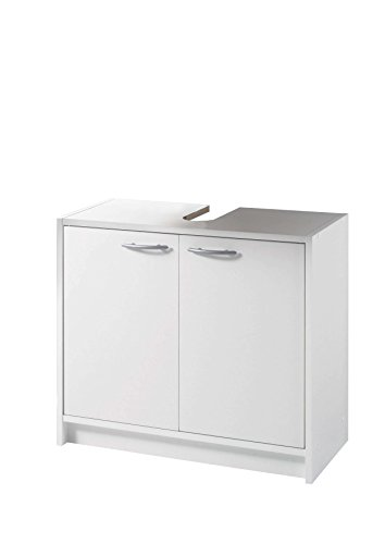 AVANTI TRENDSTORE - Smali - Sottolavabo con 2 ante a battente in legno laminato di colore bianco, dimensioni: LAP 63x55x29 cm