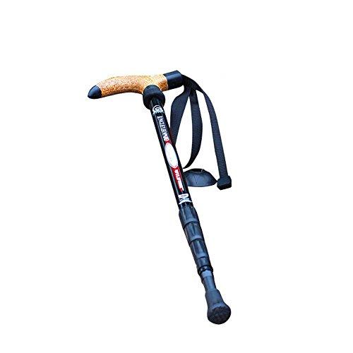 JIXIANG Bastones Kohlenstoff Faser Nordisch Gehen Stange Im Freien Camping Wandern Ski Sport Wandern Stöcke Ultraleicht Verstellbar 1er-Pack Spazierstock -