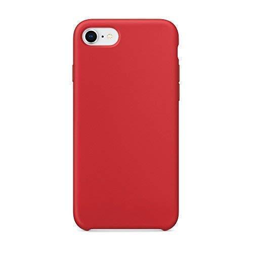 Cover iphone 8, cover iphone 7, surphy custodia iphone 8 7 silicone slim cover antiurto con morbida microfibra fodera, ultra sottile cover case per apple iphone 8 iphone 7 4.7 pollici, rosso
