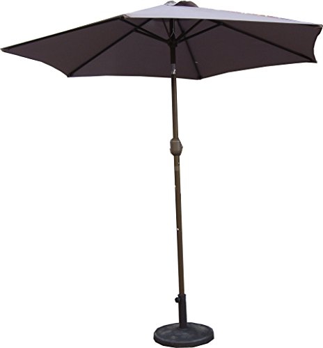 Pagoda Taupe Parasol à manivelle 2,5 m