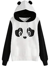 Sunnywill Sweat à Capuche Femme Panda, Pull à Capuche Imprimé ... e7d10f38331e