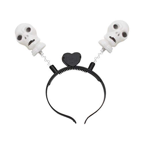 yhdcc44 Erwachsene Kinder Halloween Cartoon Kürbis Schädel Stirnband Leuchtende LED Kopfbedeckung, Leuchten Haarband Cosplay Kostüm Party - Zauberer Assistenten Kostüm Kinder