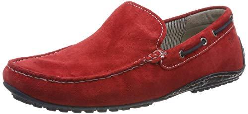Sioux Herren Callimo Mokassin, Rot (Rosso/Night 005), 44.5 EU (10 UK) Herren Leder Rot