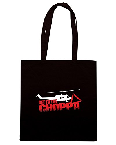 T-Shirtshock - Borsa Shopping TGAM0060 Predator - Arnie - Get to the Choppa Nero