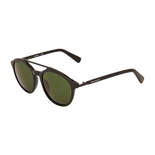 Occhiali da sole dsquared2 damon dq0244 c50 01n (shiny black / green)