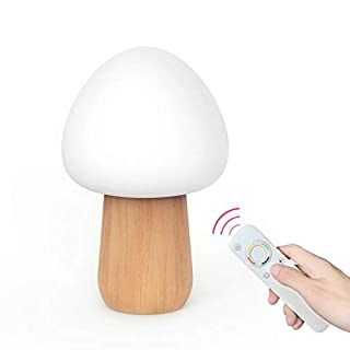 Color Mushroom Night Light, LED Sensor, Remote Baby Bed Light, USB Romantic Atmosphere Light, with Remote Control, Silicone Children's Lighting.