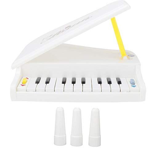 Zerodis Elektrische Tastatur Klavier weiß Kunststoff elektrische Tastatur Demo Funktion Spielfunktion Musikinstrument Spielzeug für Kinder über 3 Jahren (Batterie Nicht enthalten) (Keyboard-ständer Und Legen Sie)