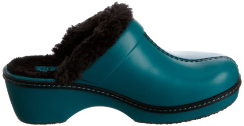 Crocs Cobbler Lined Clog, Damen Clogs Grün (Juniper/Black)