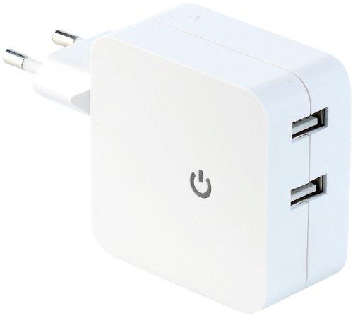 reVolt Doppel USB Ladegerät: Doppel-USB-Netzteil mit 4, 2 A Ladestrom (Doppel USB Stecker) (Usb-doppel-ladegerät)