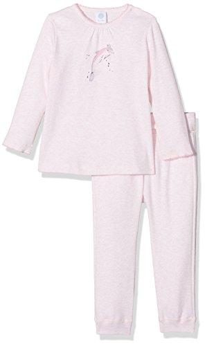 Sanetta Baby-Mädchen Zweiteiliger Schlafanzug 221389, Rosa (Magnolie Mel. 3992), 86