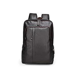 Leathario Mochila Tipo Caual Escolar Hombre Cuero Sintetico Vintaje Retro de Mano Backpack Laptop para Portátiles y Netbooks