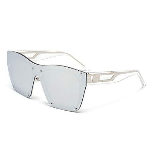 Yiph-Sunglass Sonnenbrillen Mode Klarer Rahmen einteiliger Stil Frameless Sonnenbrille für Frauen Männer UV-Schutz (Farbe : Sliver)