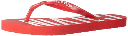 Calvin Klein FF Sandal, Tongs Femme Rouge (Fiery Red 602)