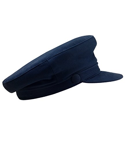 EveryHead Herrenelbsegler Elbsegler Seglermütze Schiffermütze Sailorcap Seemannsmütze Schirmmütze Markenmütze für Männer (EH-30049-S18-HE1-16-63) in Marine, Größe 63 inkl Hutfibel