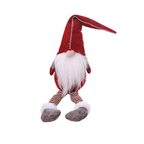 Weihnachts Deko,Wawer 20 Inches handgemachte Plüsch Gnome schwedische Figuren Fenster Dekoration Urlaub Dekoration Geschenke (Rot) - Multi Farbe-plüsch