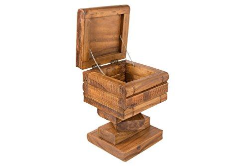 Buchstapel Hocker mit Truhe. Nachttisch, Beistelltisch mit Kiste zur Aufbewahrung ca. 50cm hoch, braun