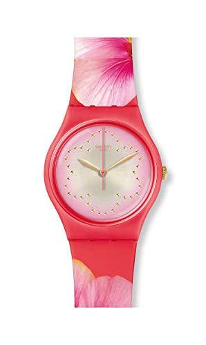 Swatch Unisex Erwachsene Analog Quarz Uhr mit Silikon Armband GZ321