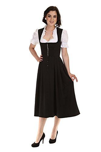 Königssee Tracht Damen Dirndl schwarz D611017 Barbara Stetch ohne Schürze Schwarz