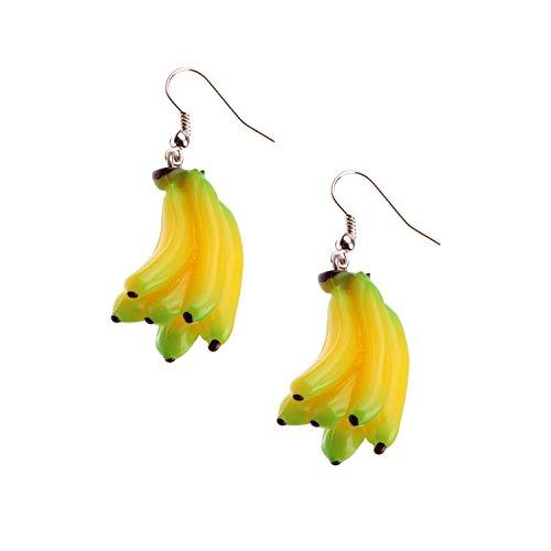Snykk Bananen-Ohrringe - 2 Stück - Banane Anhänger