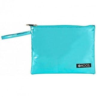 MOOS- Neceser Plano Grande, Color Blanco y Azul Celeste, 28 cm (SAFTA 861623689)