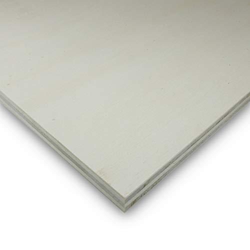 Sperrholzplatten 4mm Zuschnitte (5 Stück) Bastelholz Natur Holzplatten Sperrholz zum bemalen (210x148x4mm) -