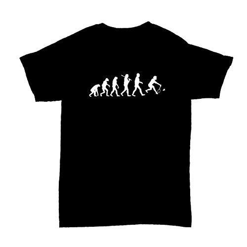 Shirtfun24 Evolution Badminton Federball Kinder T-Shirt, Schwarz, 152