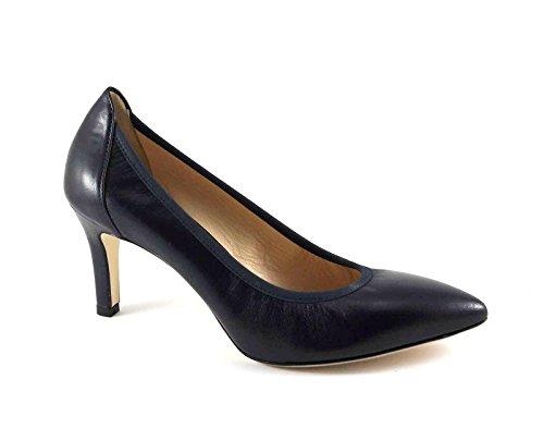 MELLUSO D078V notte scarpe donna decolletè elasticizzato punta sfilata Blu