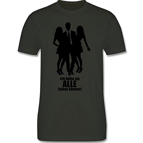 JGA Junggesellenabschied - Ich hätte sie ALLE haben können - Herren Premium T-Shirt Army Grün