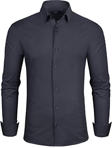 Grin&Bear Herren Hemd, schwarz, Slim, M, SH333