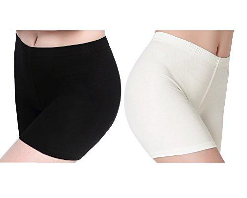 Short Leggings Women - Damen Unter Rock Shorts - Schlaf Atmungsaktive Pants -