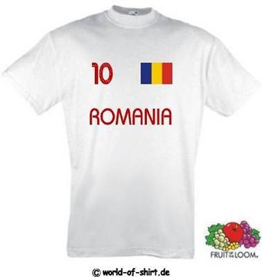 world-of-shirt Herren T-Shirt Rumänien im Trikot Look