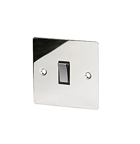 Invero® Flat 10 Amp 1 Gang Single Light Switch Plate