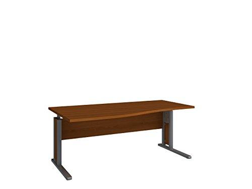Wellemöbel, JOBexpress, Schreibtisch 180 cm x 100/80 cm 72004204, Kirschbaum