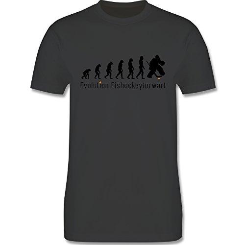 Evolution - Eishockeytorwart Evolution - Herren Premium T-Shirt Dunkelgrau